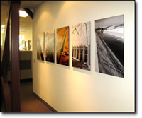 fotoflot project display at engineering consulting company